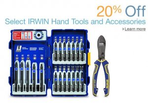 20% Off Select Irwin Hand Tools and Accessories at Amazon