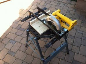 PUPS Turns a circular saw into a miter saw.