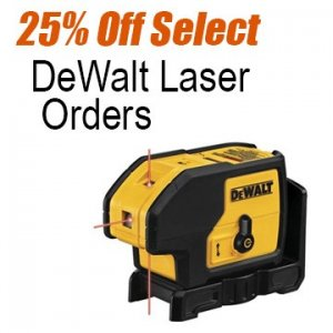 25% Off DeWalt Laser Products