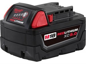 Milwaukee 5.0Ah M18 RedLithium XC5.0 Extended Capacity Battery Pack