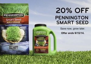Pennington Grass 20% Off Sale
