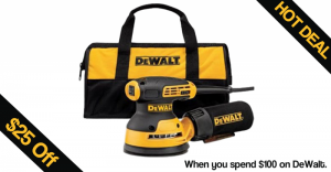 Get $25 Off when you spend $100 on DeWalt Tools