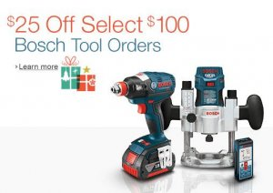 $25 Off a $100 Purchase of Select Bosch Tools