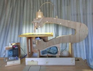 Homemade Scroll Saw Made Of Wood And Awesomeness