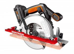 WORX ExacTrack cordless track saw makes any straightedge its track