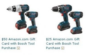 Free $25 Or $50 Amazon Card With Select Bosch Purchase
