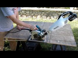 Makita circular saw cordless dust extraction mod