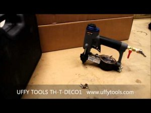 Uffy Tools Pneumatic Decorative Upholstery Nailer With Built In