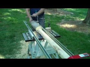 How to make dowels and tenons. Adjustable tenon cutter.